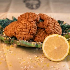Biscoito de aveia com limão siciliano
